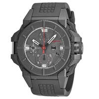 Snyper Men's  'One' Grey Dial Grey Rubber Strap Chronograph Swiss Automatic Watch
