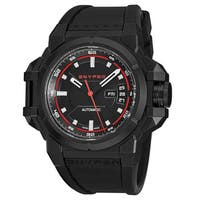 Snyper Men's 20.200.00 'Two' Black Dial Black Rubber Strap Swiss Automatic Watch