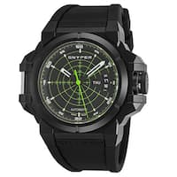 Snyper Men's  'Two Target' Black/Green Dial Black Rubber Strap Swiss Automatic Watch