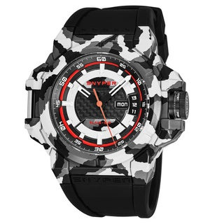 Snyper Men's 'Two' Black Carbon Fiber Dial Black Rubber Strap Camouflage Swiss Automatic Watch