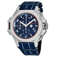 Snyper Men's 50.050.00 'Iron Clad' Blue Dial Blue Leather Strap Chronograph Swiss Automatic Watch