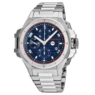 Snyper Men's 'Iron Clad' Blue Dial Stainless Steel Chronograph Swiss Automatic Watch