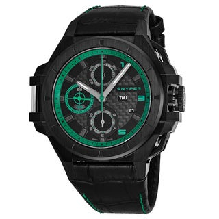 Link to Snyper Men's 50.280.00SP 'Iron Clad 513' Black Dial Black Leather Strap Chronograph Swiss Automatic Watch Similar Items in Men's Watches