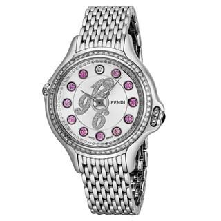Fendi Women's F105036000B3P02 'Crazy Carats' Silver Diamond Dial Stainless Steel Swiss Quartz Watch