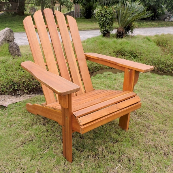Shop International Caravan Royal Fiji Adirondack Patio Chair   On Sale    Free Shipping Today   Overstock   20219178