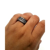 Black Stainless Steel Ring Size 10