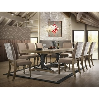 Birmingham 9-Piece Removable Leaf Table with Side Dining Chairs Set