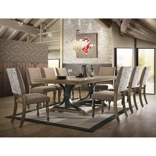 Birmingham 9-Piece Butterfly Leaf Table with Side Dining Chairs Set