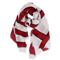 LA77 Red Striped Fashion Scarf