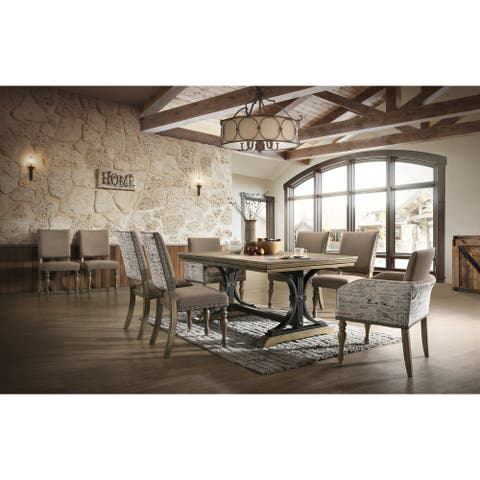 Birmingham 9-Piece Removable Leaf Table with Arm Dining Chairs Set