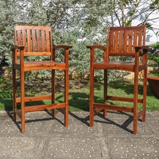 International Caravan Highland Bar-Height Bar Stool (Set of 2)