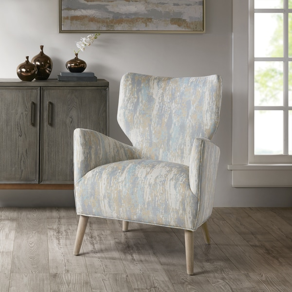 Shop Madison Park Dale Blue Multi Accent Chair Free