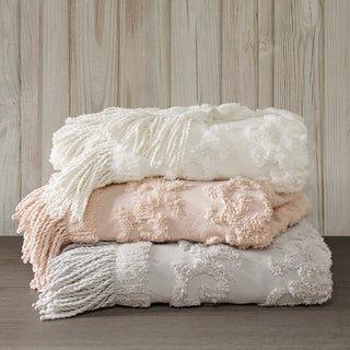 Madison Park Mila Chenille Cotton Tufted Throw