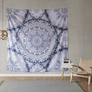 Intelligent Design Skye Blue Printed Oversized Wall Tapestry