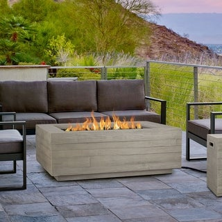 Board Form Rectangle Propane Fire Table w/NG conversion by Real Flame