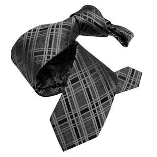 DMITRY Grey Patterned Italian Silk Tie