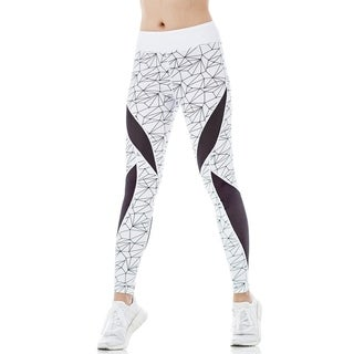 FIGUR ACTIV Women's Trinity Geometric Print Athleisure Fashion Legging