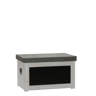 Chalk Board Large Trunk, White