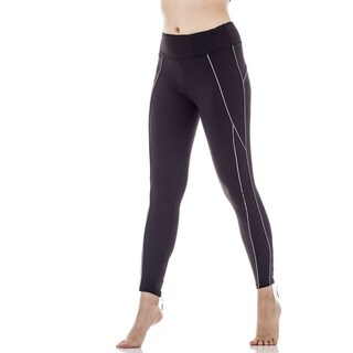 FIGUR ACTIV Women's Lace Up Ballet Yoga Active Legging With Reflective Body Contouring Lines (More options available)