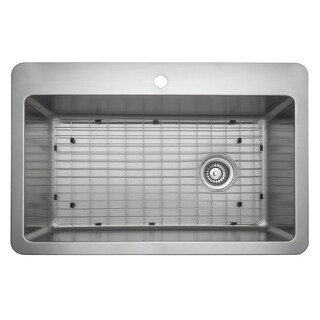 "Ancona Valencia Series 33"" x 22"" Single Bowl Drop-in Kitchen Sink"