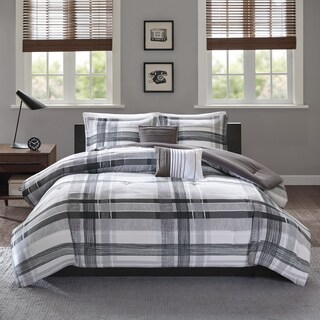 Intelligent Design Jax Black Plaid 5-piece Comforter Set