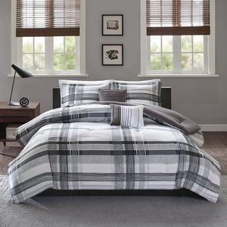 Intelligent Design Jax Black Plaid 5-piece Comforter Set
