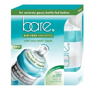 BARE AIR FREE 4-ounce Baby Bottle with Easy-Latch Nipple 2 pack