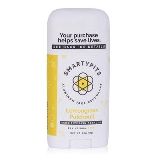 SmartyPits 2.9-ounce Sensitive Skin Formula Deodorant Lemongrass Patchouli