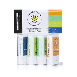 SmartyPits Standard Formula Deodorant Mini Four Pack Traditionally Scented Collection