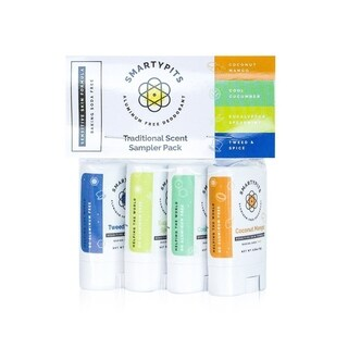 SmartyPits Sensitive Skin Formula Deodorant Mini Four Pack Traditionally Scented Collection