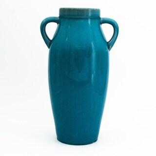 Claybarn Grotto Aqua Handled Vase