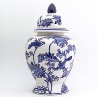 Claybarn Blue Garden Ginger Jar