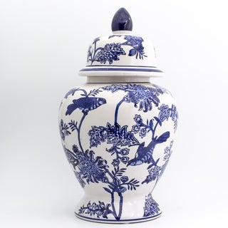 Claybarn Blue Garden Ginger Jar