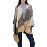 LA77 Women's Multi Color Camel Geo Print Wrap