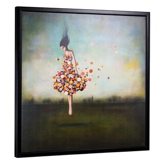 "Boundlessness in Bloom by Duy Huynh Framed Canvas 35"" x 35"""