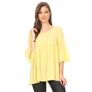 Women's Solid Babydoll Loose Fit Top (3 options available)