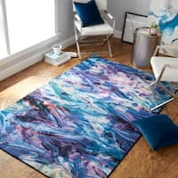 Mohawk Home Prismatic Florentine Modern Abstract Paper Area Rug (5' x 8') - 5' x  8'