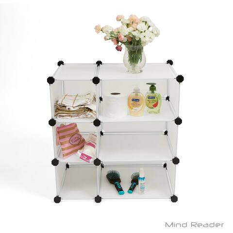 Mind Reader Multi-Purpose Magic Cube Storage Organizer, White