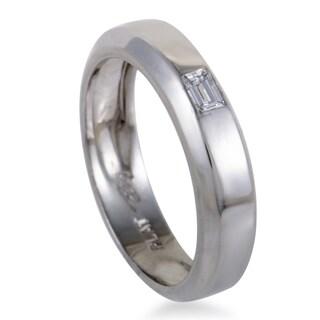 .20ct Men's Platinum Baguette Cut Diamond Band Ring