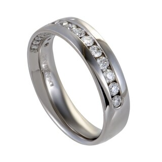 1ct Men's Platinum and Diamond Wedding Band Ring