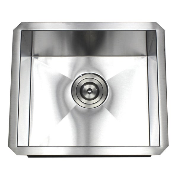 17-inch Stainless Steel 16 Gauge Single Bowl Zero Radius Undermount Bar Island Sink