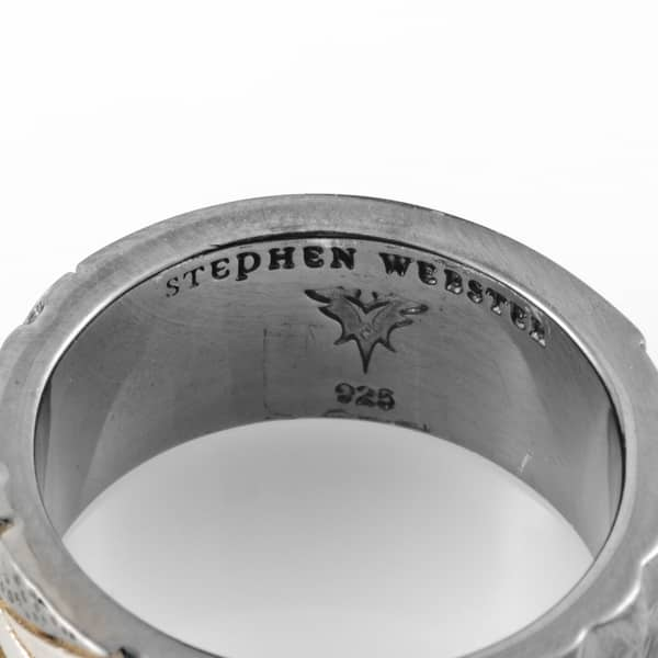 Shop Stephen Webster Alchemy In The Uk Sterling Silver Onyx Union Jack Ring Overstock 20220227