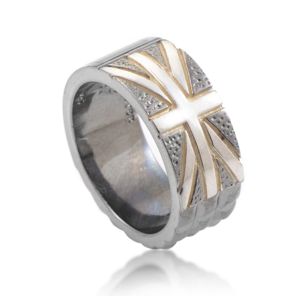 Stephen Webster Alchemy in the UK Sterling Silver Onyx Union Jack Ring