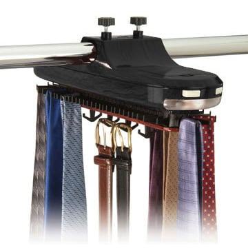 Motorized Tie Belt Necktie Revolving Rotating Hanger Closet Organizer Tie  Rack Holder