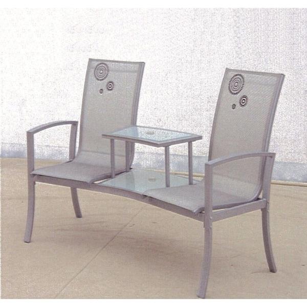 Havana Silvertone Black Steel Textilene Gl Duo Seat On Free Shipping Today 20220244