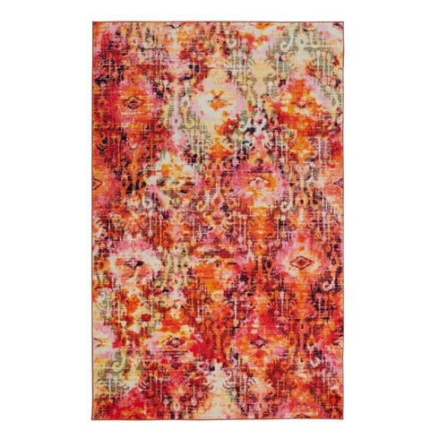 Silver Orchid Hinding Distressed Multicolor Area Rug