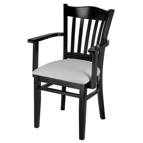 Solid Wood Fully Assembled Hybrid Arm Chair