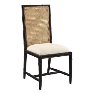 Mercier Side Chair (Black/ Cream) (Set of 2)