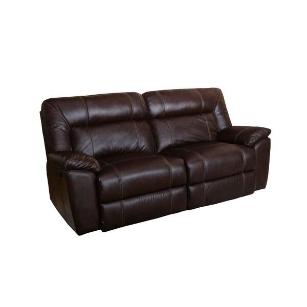 Shop Thornton Durham Brown Power Motion Dual Recliner Sofa