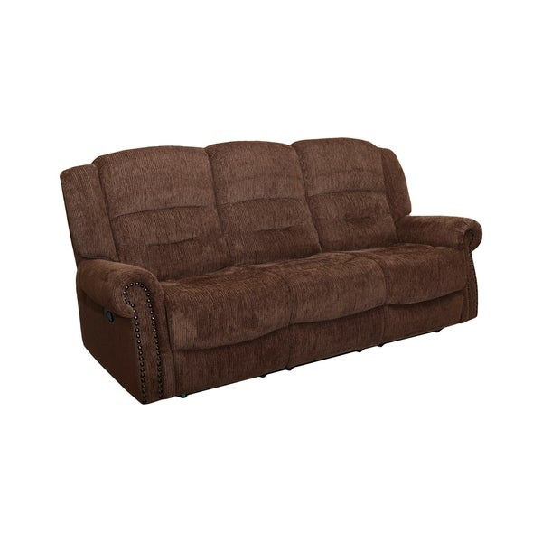 Leather Sofa For Accent Pillows: Shop Jasper Panda Leather 2-accent Pillow Dual Recliner